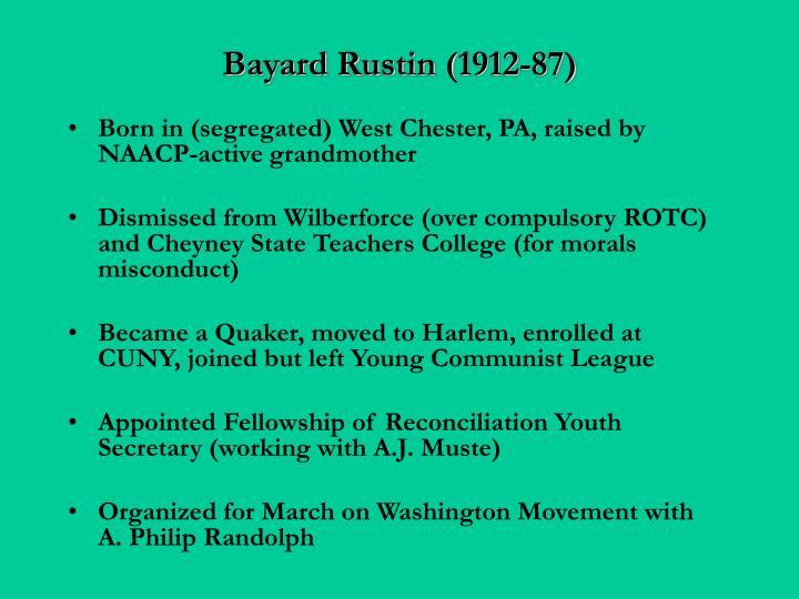 Bayard Rustin (1912-87)