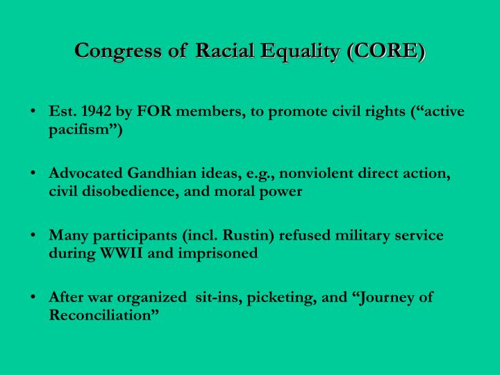 Congress of Racial Equality (CORE)