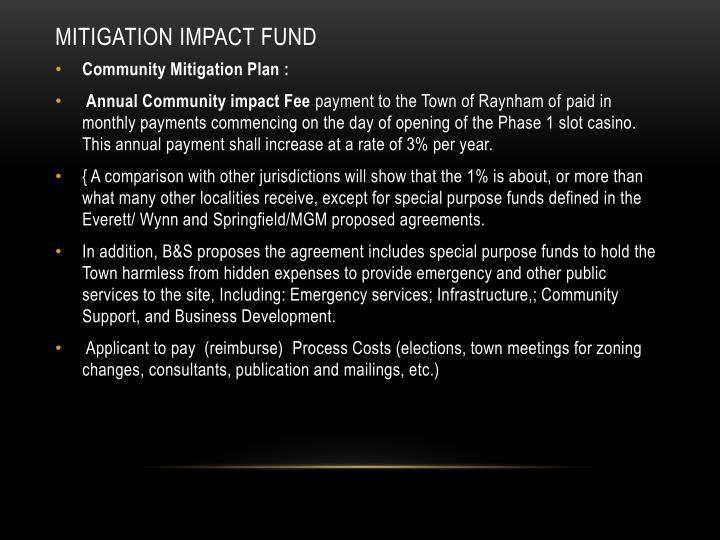 Mitigation impact fund