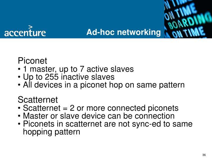 Ad-hoc networking
