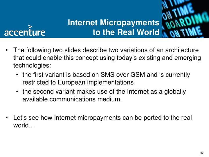 Internet Micropayments