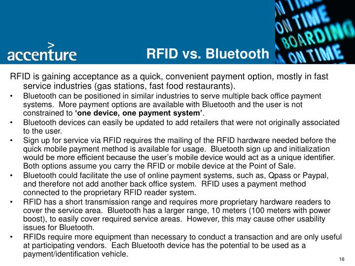 RFID vs. Bluetooth