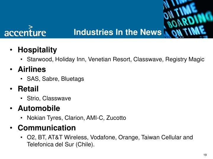 Industries In the News