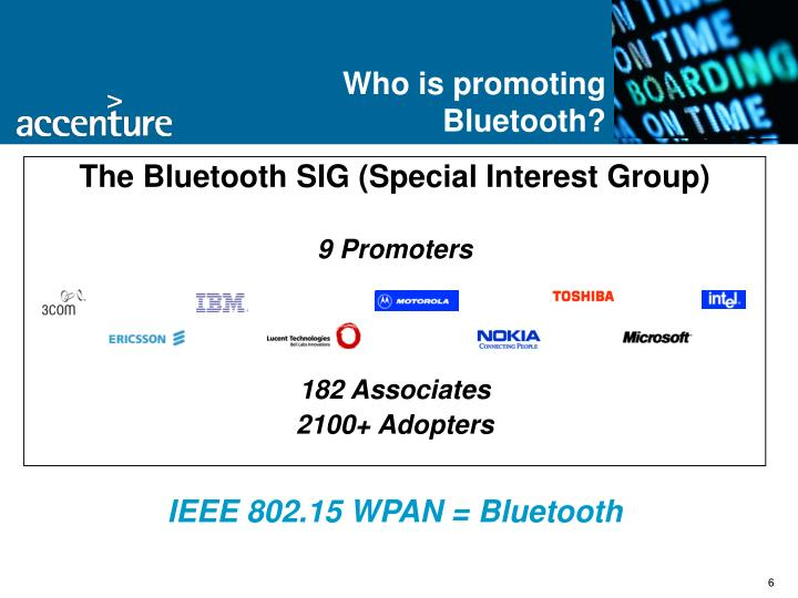 Who is promoting Bluetooth?