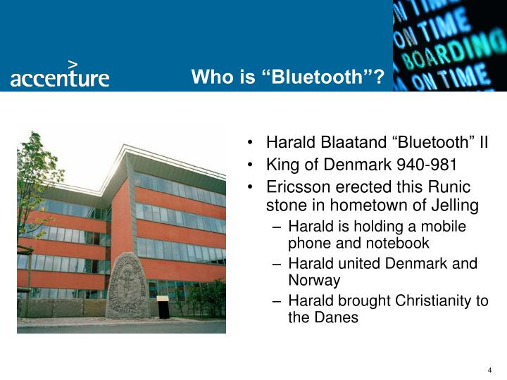 """Who is """"Bluetooth""""?"""