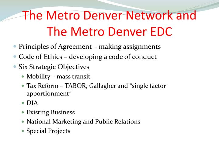 The Metro Denver Network and The Metro Denver EDC