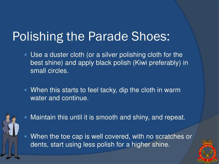 Polishing the Parade Shoes: