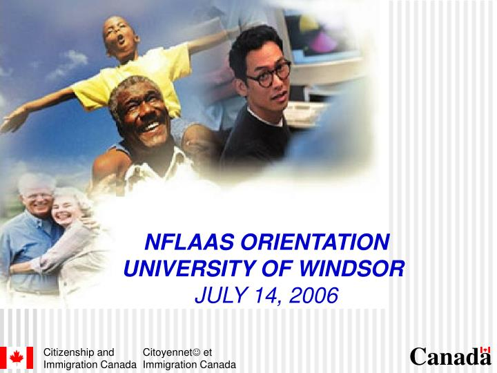 Nflaas orientation university of windsor july 14 2006