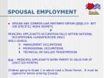 spousal employment