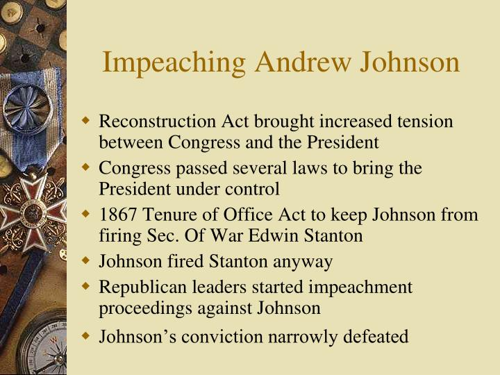 Impeaching Andrew Johnson