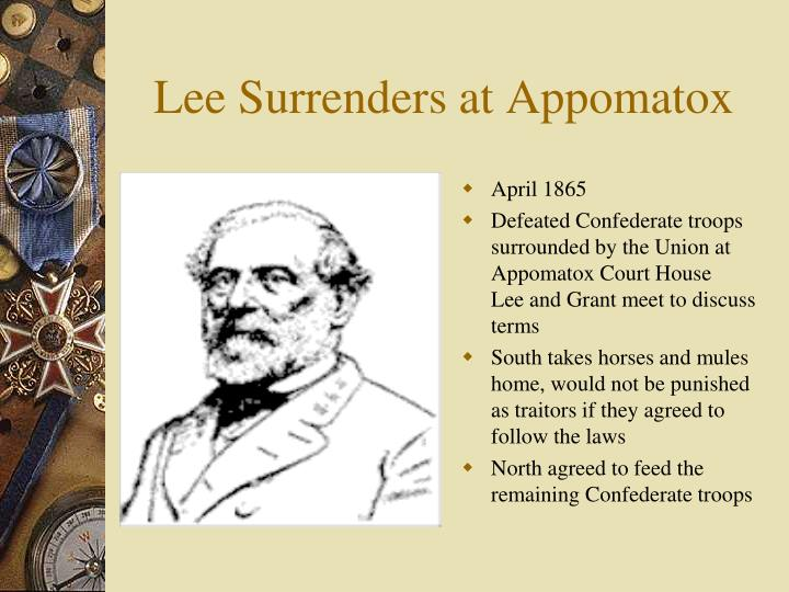 Lee Surrenders at Appomatox