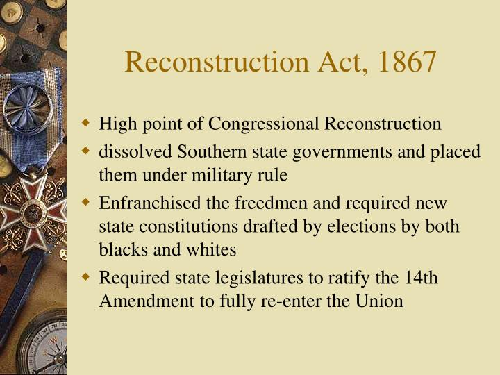 Reconstruction Act, 1867