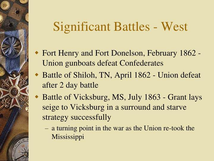 Significant Battles - West
