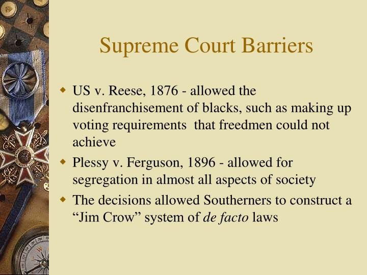 Supreme Court Barriers