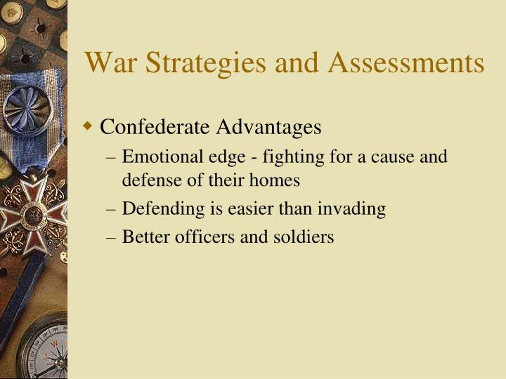 War Strategies and Assessments