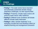 crwg 11 findings