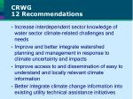 crwg 12 recommendations1