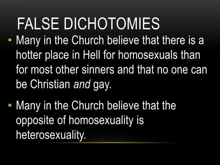 False Dichotomies