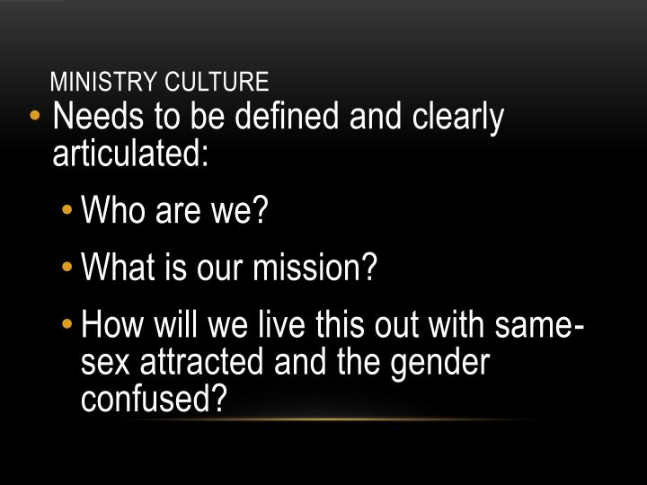Ministry Culture