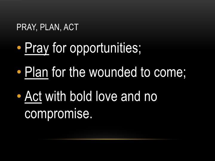 Pray, Plan, Act