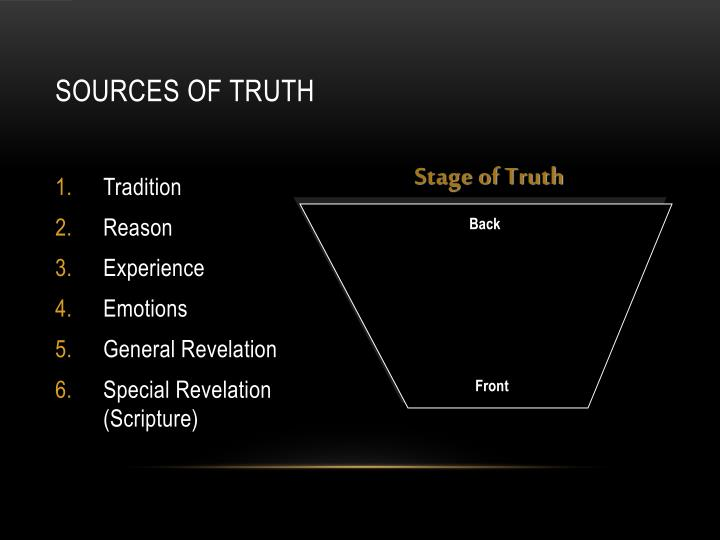 Sources of Truth