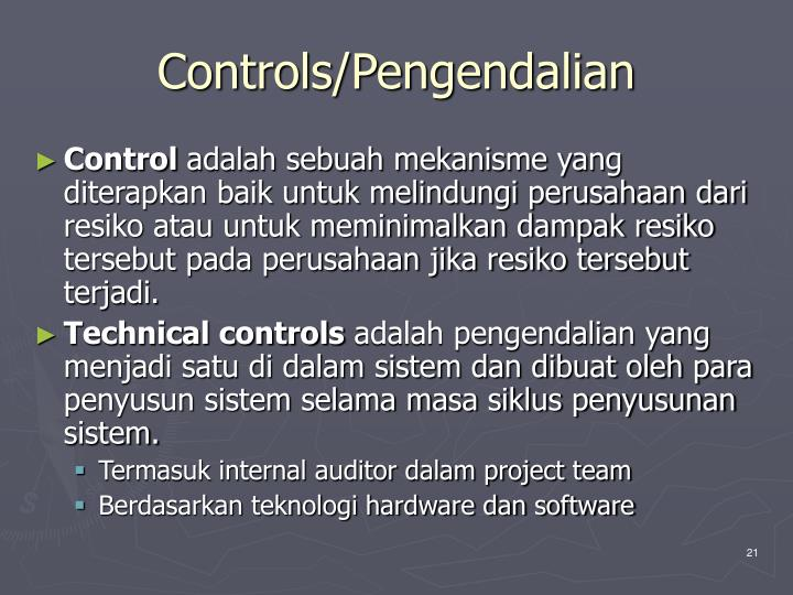 Controls/Pengendalian