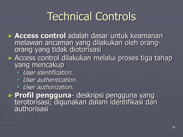 Technical Controls