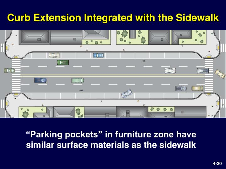 Ppt some important pedestrian considerations powerpoint for Furniture zone sidewalk