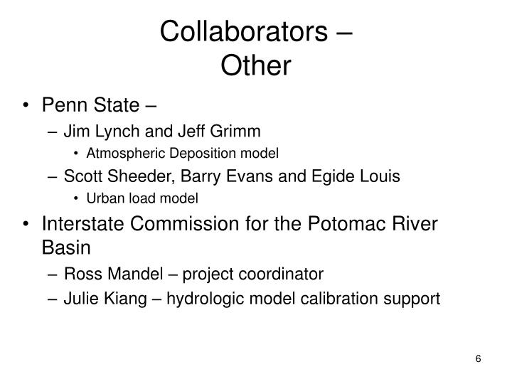 Collaborators –