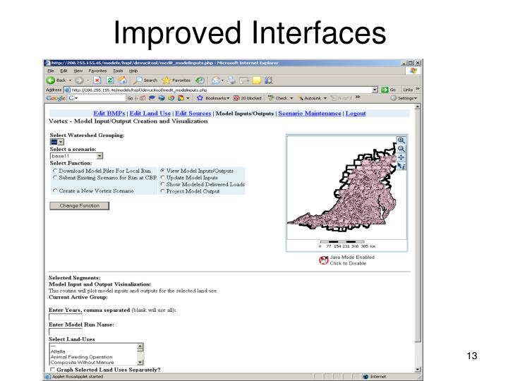 Improved Interfaces