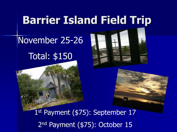 Barrier Island Field Trip