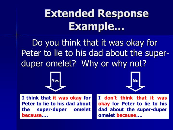 Extended Response Example…
