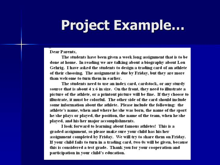 Project Example…