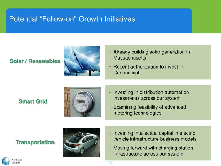 "Potential ""Follow-on"" Growth Initiatives"