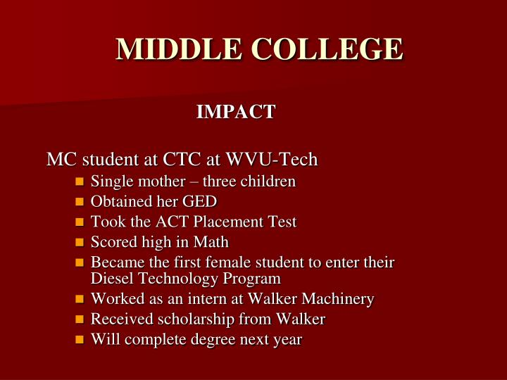 MIDDLE COLLEGE
