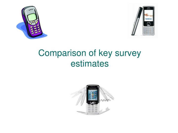 Comparison of key survey estimates