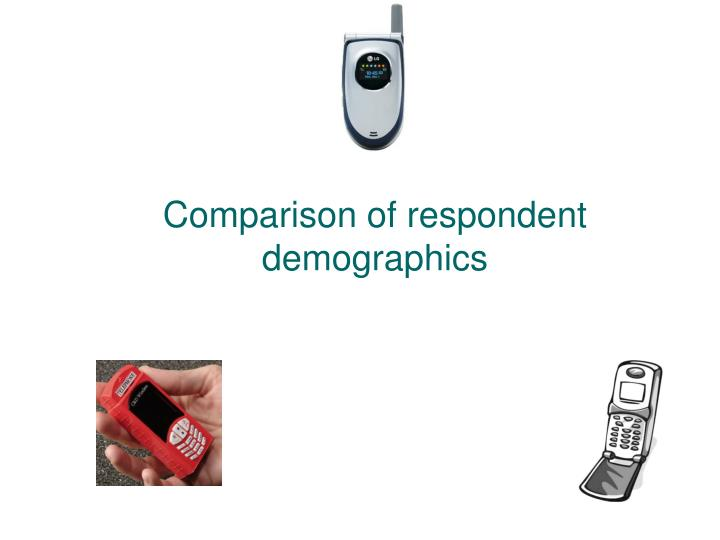 Comparison of respondent demographics