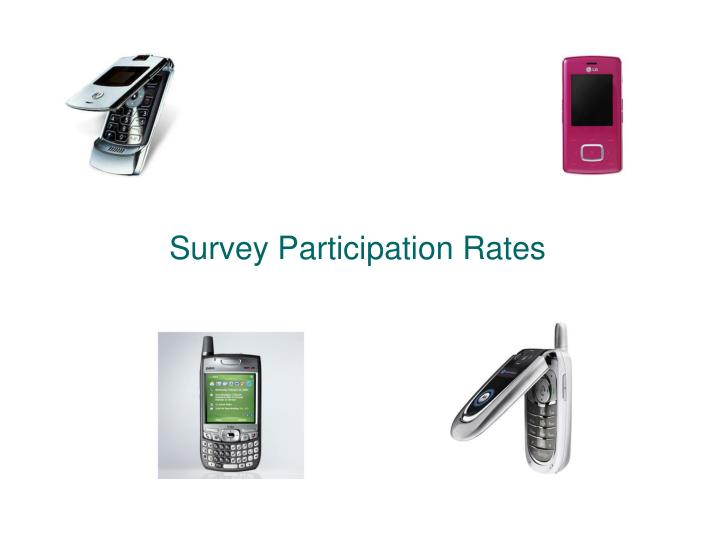 Survey Participation Rates
