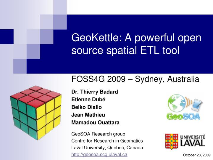 Geokettle a powerful open source spatial etl tool