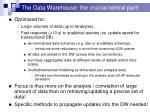 the data warehouse the crucial central part1