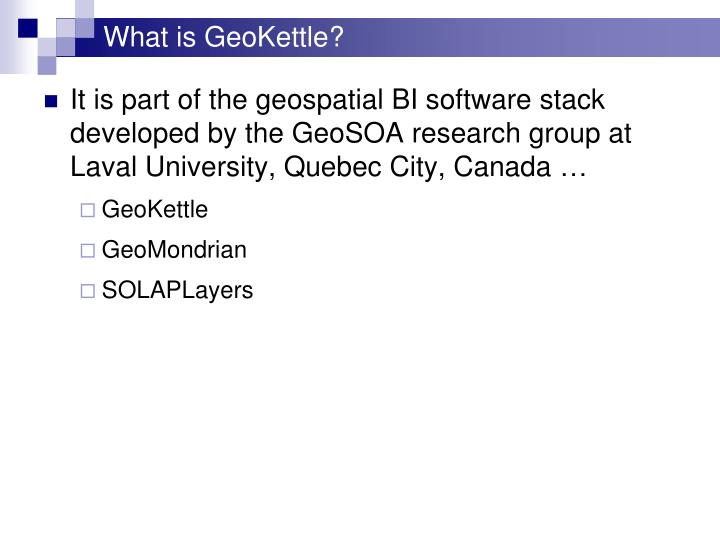What is GeoKettle?