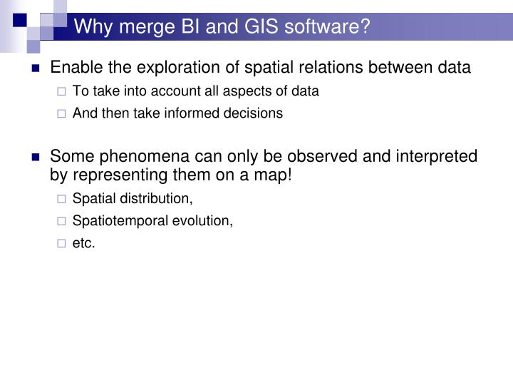 Why merge BI and GIS software?