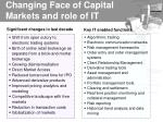 changing face of capital markets and role of it