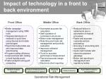 impact of technology in a front to back environment