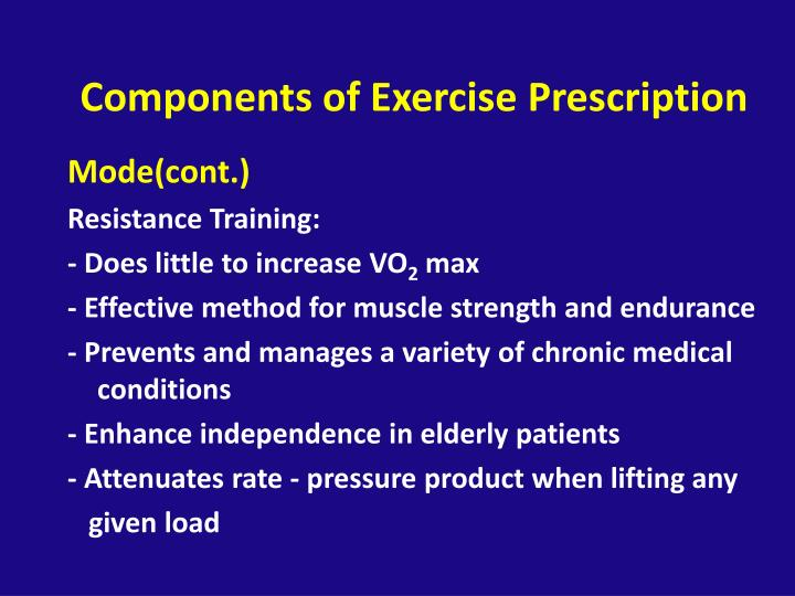 Components of Exercise Prescription