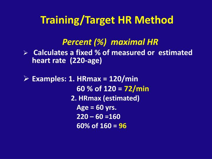 Training/Target HR Method