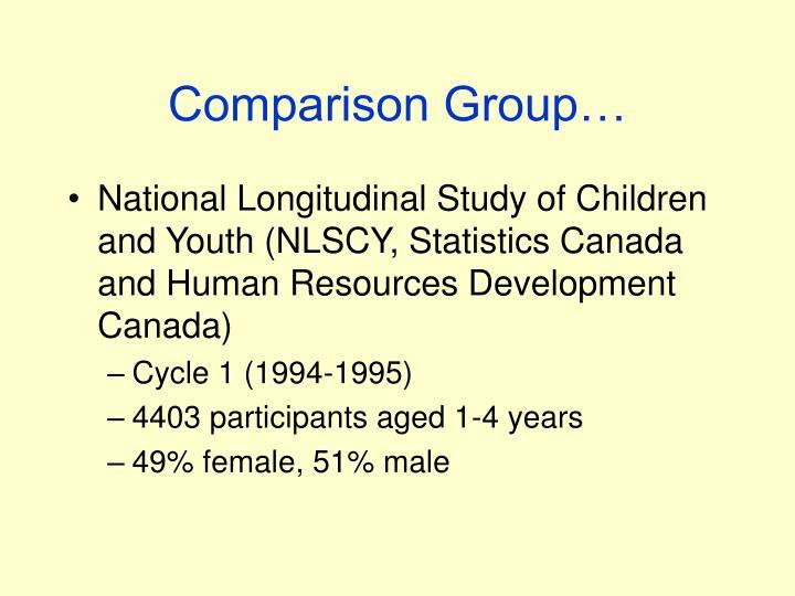 Comparison Group…