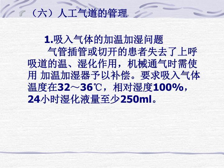 (六)人工气道的管理