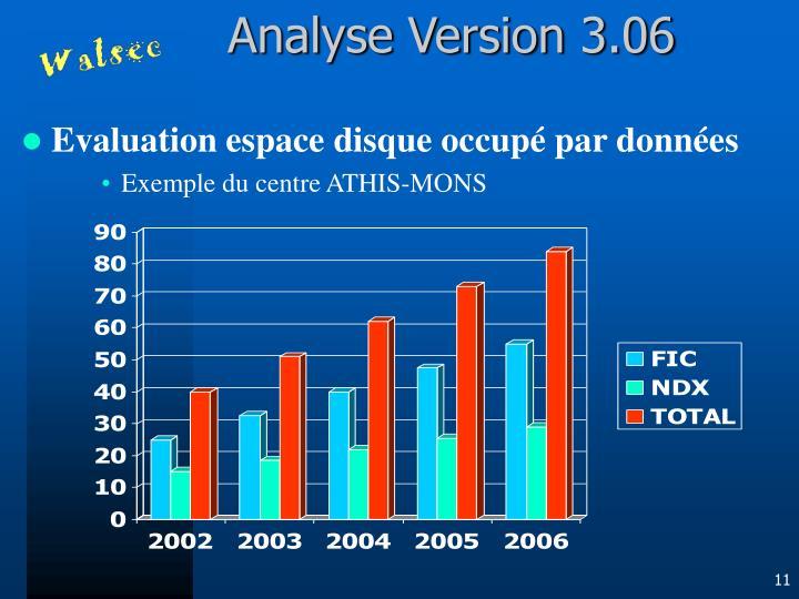 Analyse Version 3.06