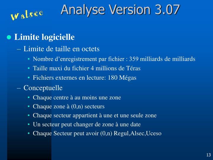 Analyse Version 3.07